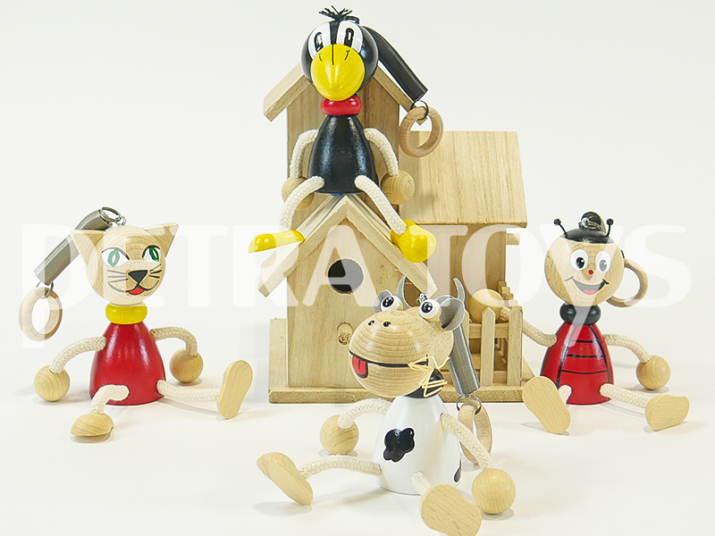 Wooden bouncing toys